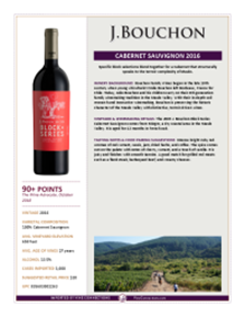 Cabernet Sauvignon 2016 Product Sheet