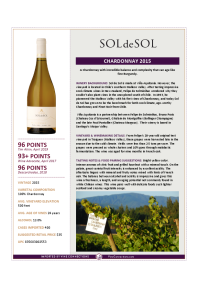 Chardonnay 2015 Product Sheet