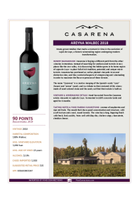 Areyna Malbec 2018 Product Sheet