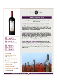 Microterroir 2012 Product Sheet
