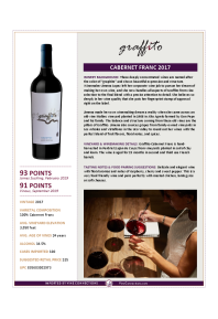 Cabernet Franc 2017 Product Sheet