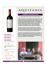 Cabernet Sauvignon 2018 Product Sheet