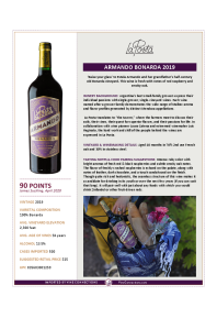 Armando Bonarda 2019 Product Sheet