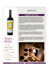 Cabernet Franc 2018 Product Sheet